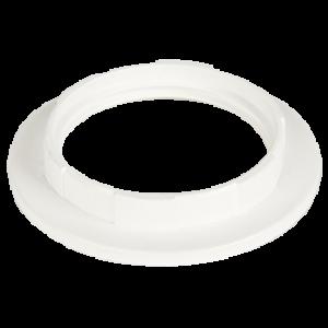 Ecola base Кольцо дополнительное к патрону E27 Белый (1 из уп. по 100)