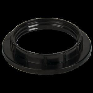 Ecola base Кольцо дополнительное к патрону карболит E27 Черный (1 из уп. по 100)