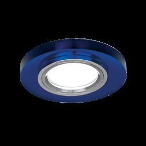 Светильник Gauss Mirror RR004 Круг. Кристал синий/Хром, Gu5.3 1/50