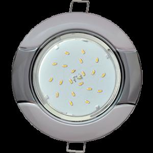 """Ecola GX53 H4 9012 светильник встраив. без рефл. """"Волна"""" серебро-черный хром 38x116 (к+)"""