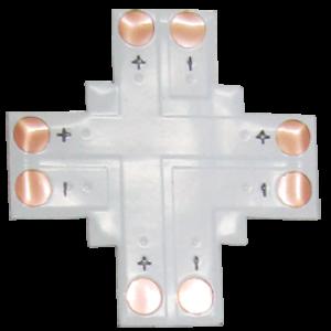 Ecola LED strip connector гибкая соед. плата X для зажимного разъема 2-х конт. 10 mm уп. 5 шт.