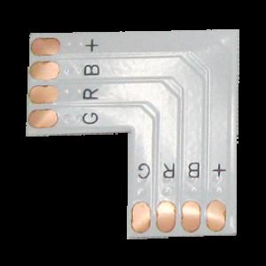Ecola LED strip connector гибкая соед. плата L для зажимного разъема 4-х конт. 10 mm уп. 5 шт.