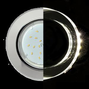 Ecola GX53 H4 LD5310 Glass Стекло Круг с подсветкой  хром - хром (зеркальный) 38x126 (к+)
