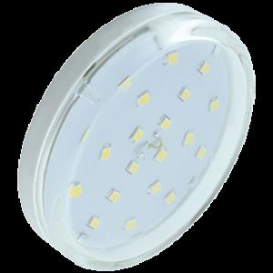 Ecola GX53   LED  6,0W Tablet 220V 4200K прозрачное стекло (композит) 27x75