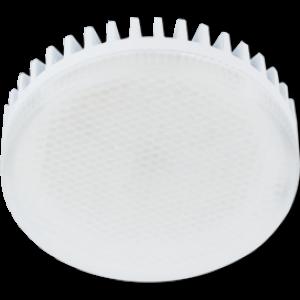 Ecola GX53   LED  8,5W Tablet 220V 4200K матовое стекло (ребристый алюм. радиатор) 27x75