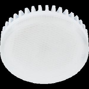 Ecola GX53   LED 10,0W Tablet 220V 2800K матовое стекло (ребристый алюм. радиатор) 27x75
