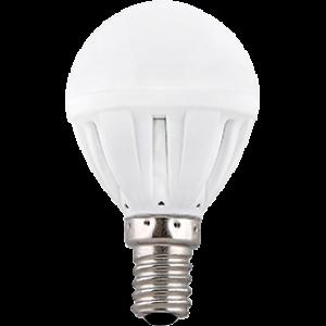 Ecola Light Globe  LED  5,0W G45  220V E14 4000K шар 77x45
