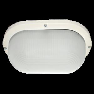 Ecola Light GX53 LED ДПП 03-9-102 светильник Овал накладной IP65 2*GX53 матовое стекло белый 280х175х105