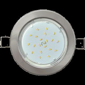 Ecola Light GX53-H6 светильник металл. встраиваемый плоский сатин-хром 101x16