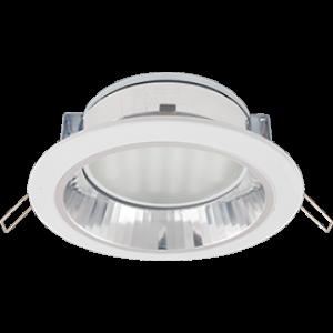 Ecola GX70-H6R светильник белый встр. с рефл. с лампой GX70 13W Tablet  220V 2700K GX70 65x171
